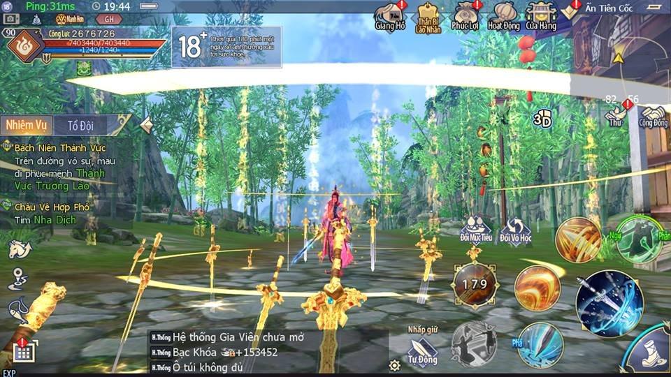Game mobile Cửu Âm 3D VNG