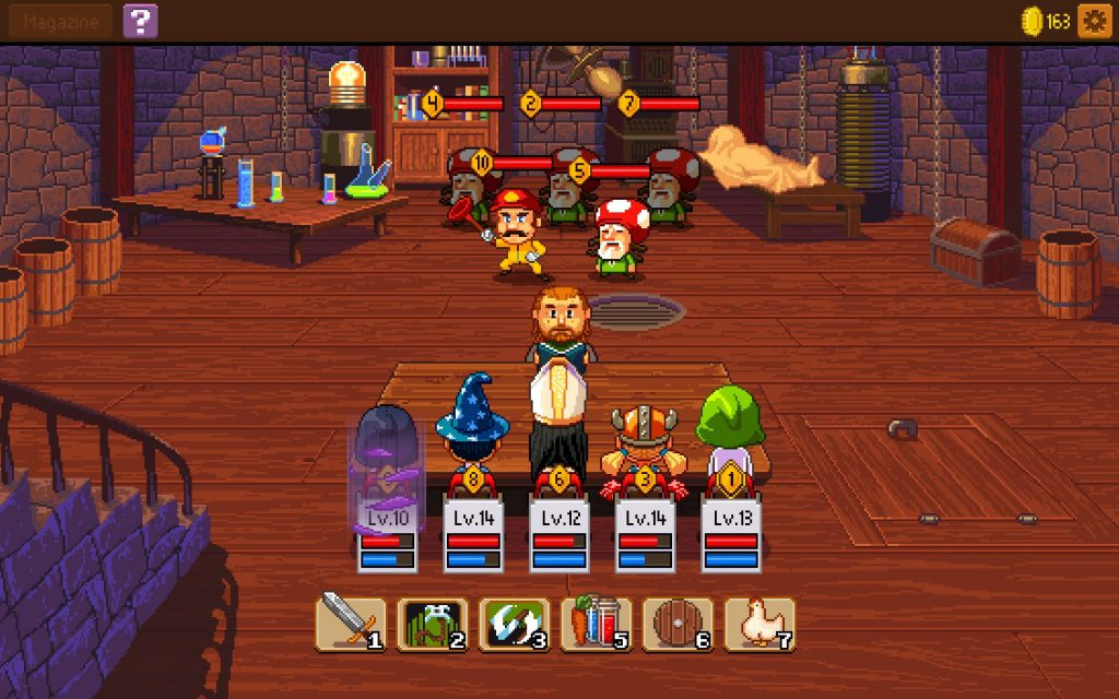 Game mobile IOS Knights of Pen and Paper 2